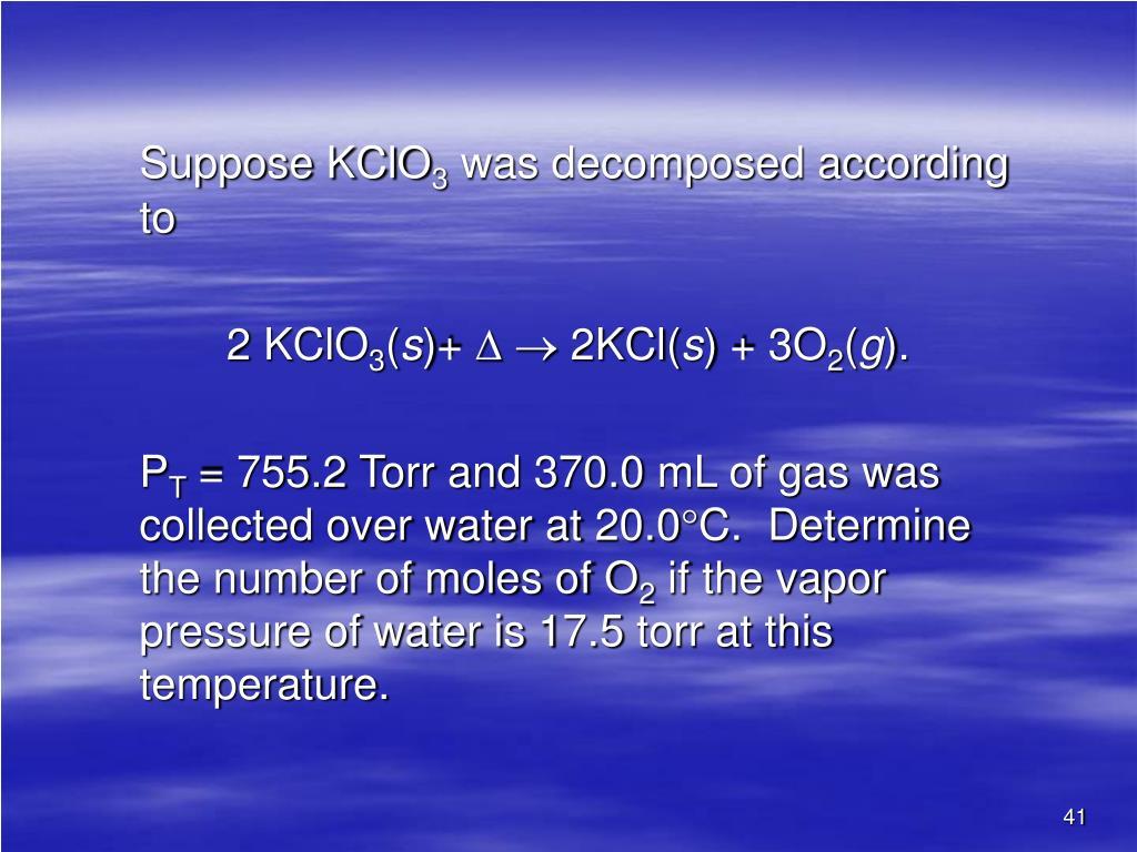 Suppose KClO