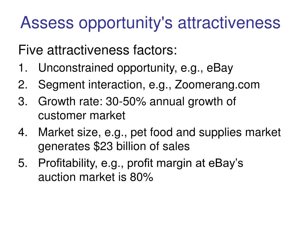 Assess opportunity's attractiveness