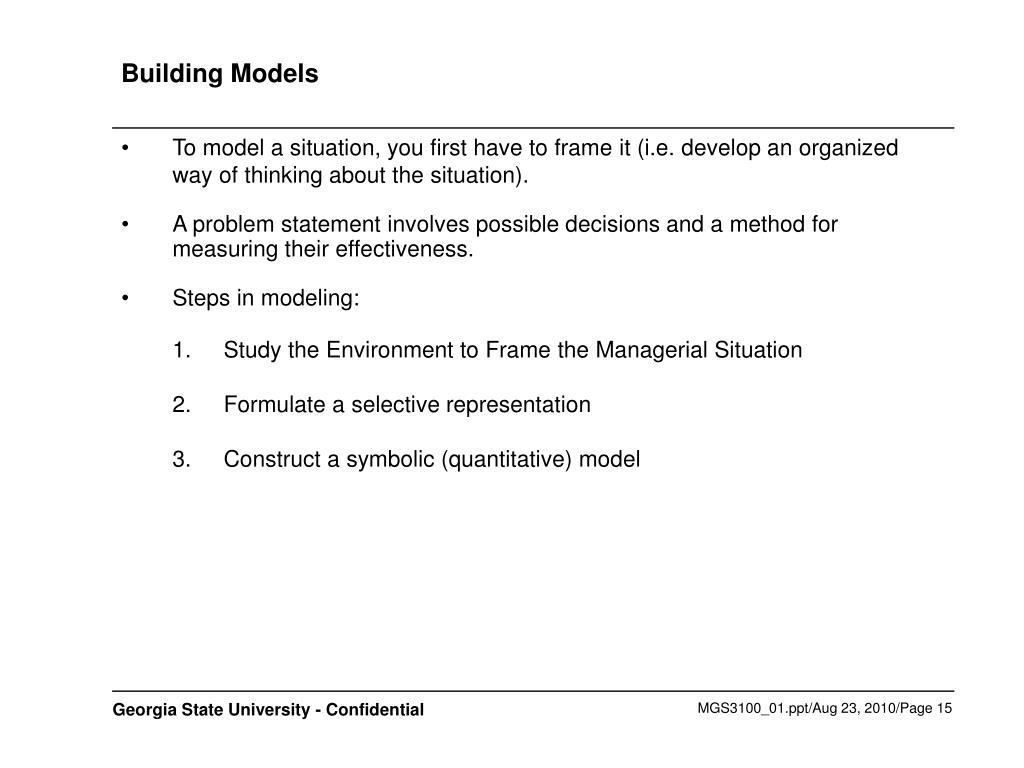 Building Models