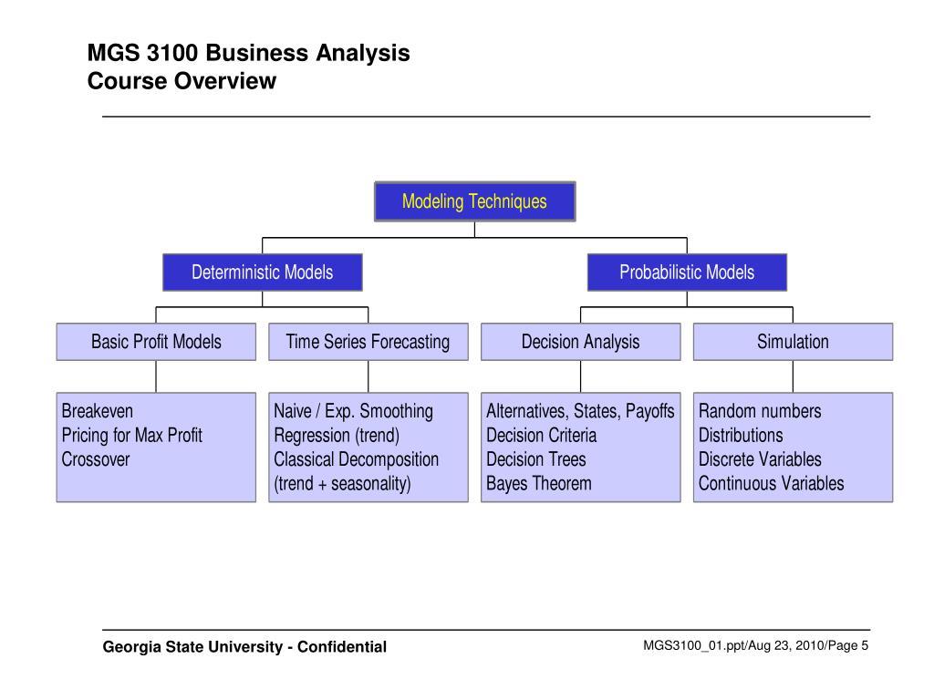 MGS 3100 Business Analysis