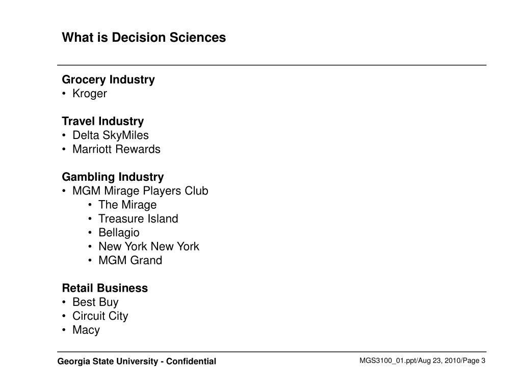 What is Decision Sciences