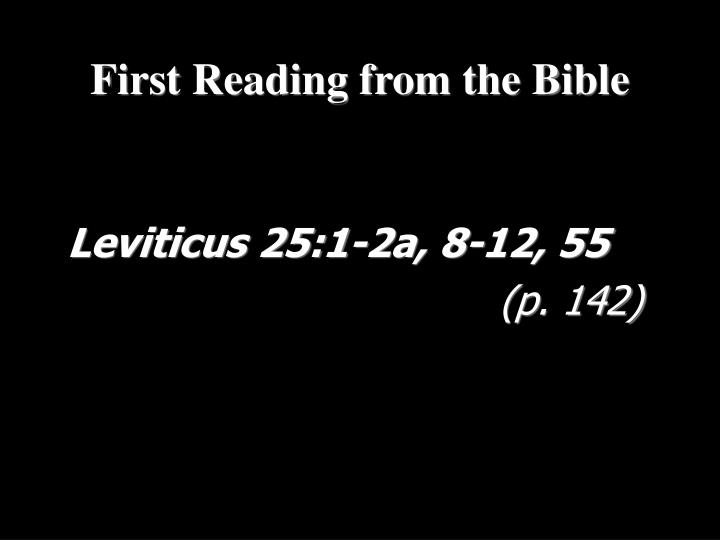 Leviticus 25:1-2a, 8-12, 55