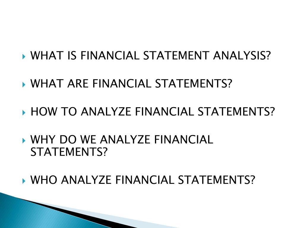 WHAT IS FINANCIAL STATEMENT ANALYSIS?