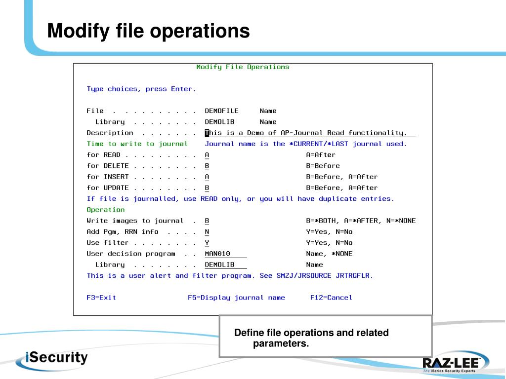 Modify file operations