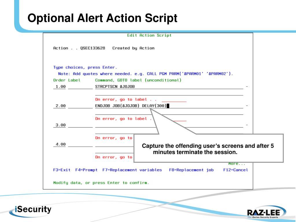 Optional Alert Action Script