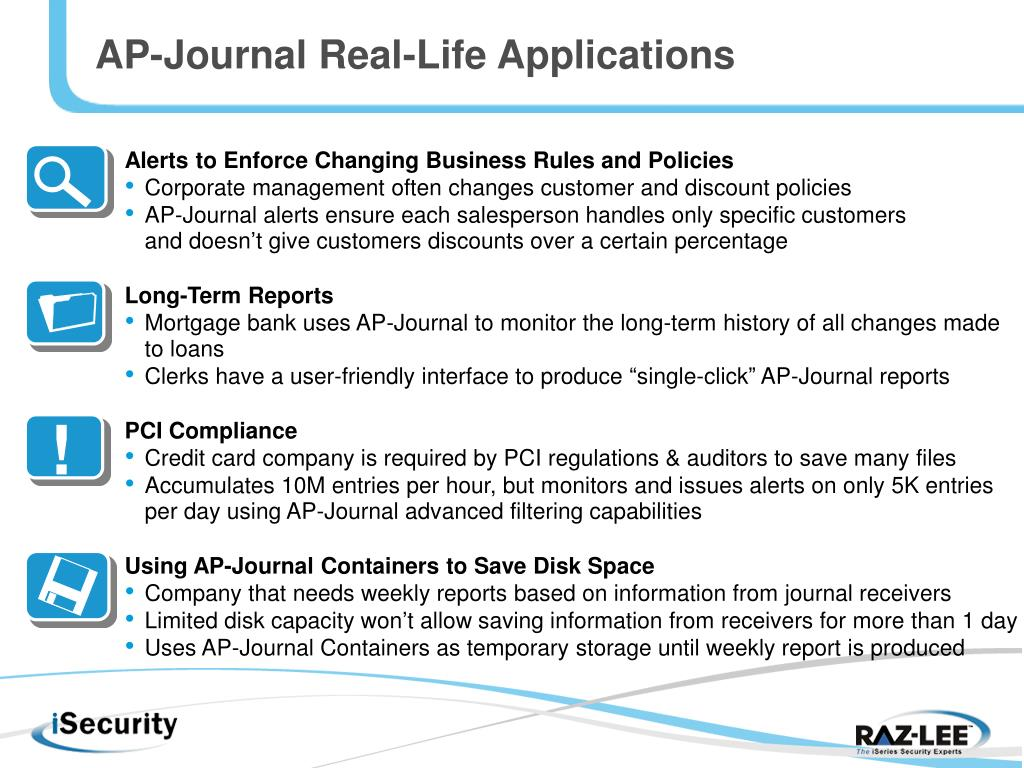 AP-Journal Real-Life Applications