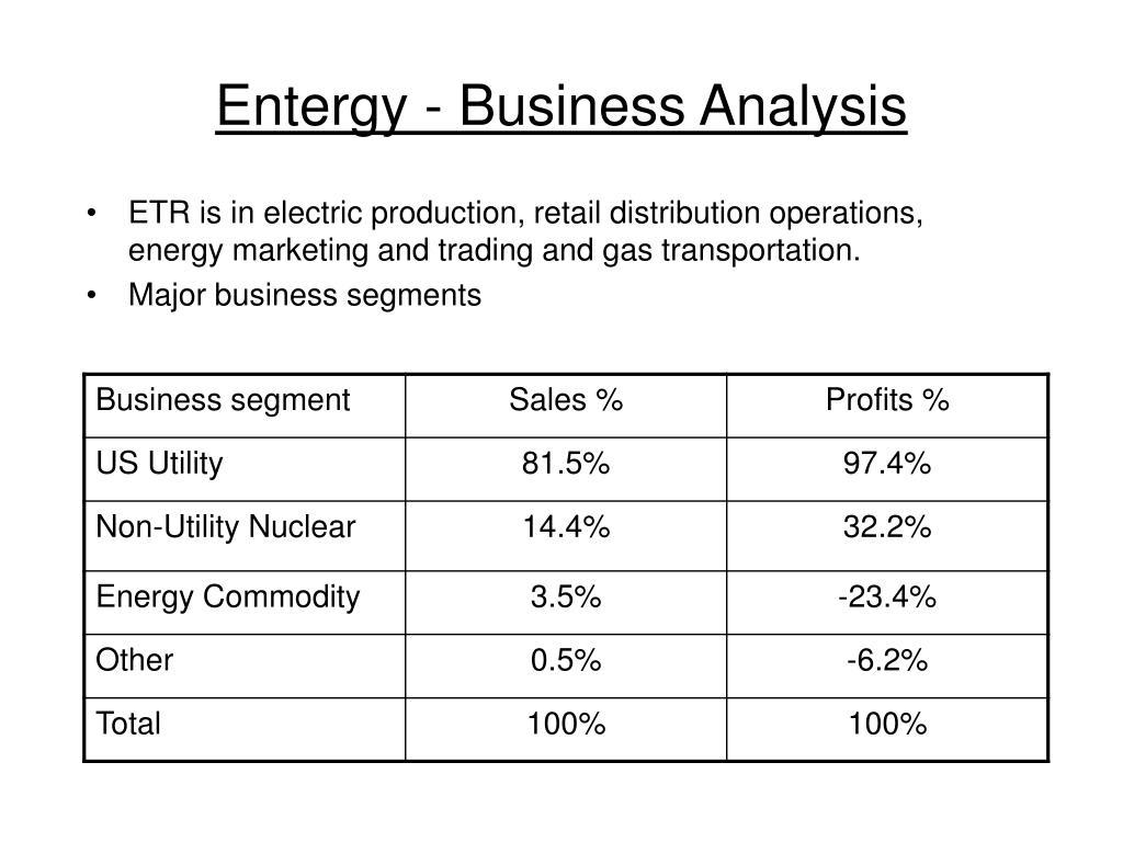 Entergy - Business Analysis