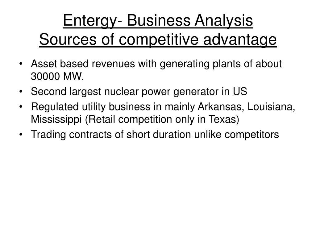 Entergy- Business Analysis