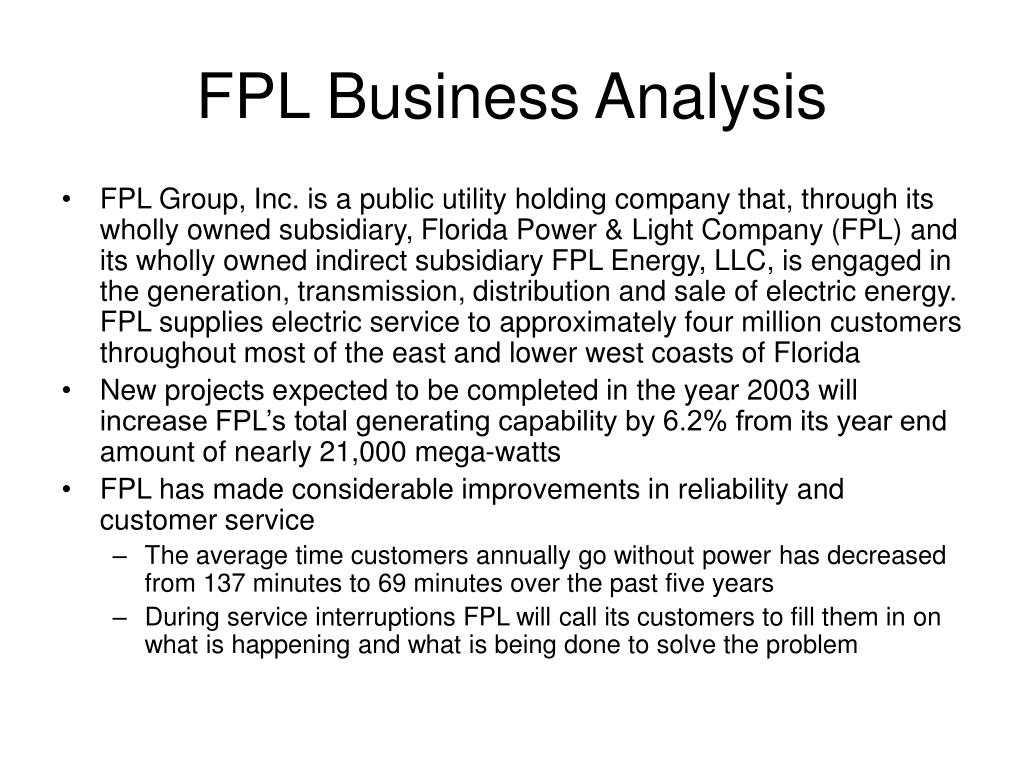 FPL Business Analysis