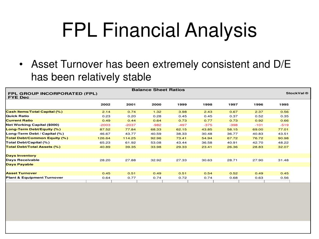 FPL Financial Analysis