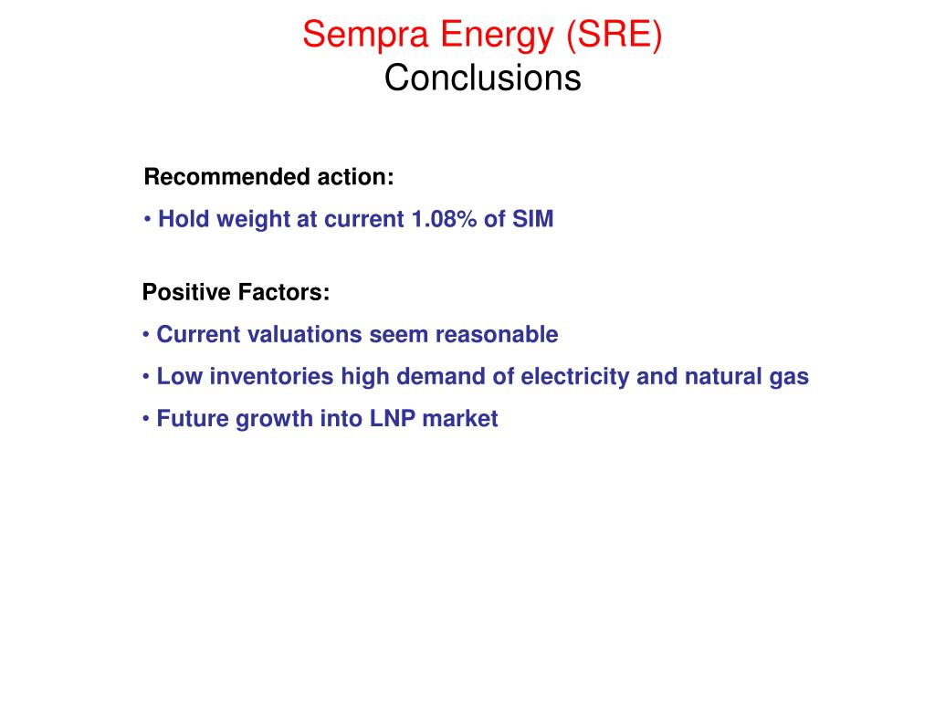Sempra Energy (SRE)