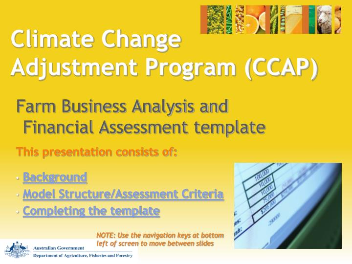 Climate change adjustment program ccap