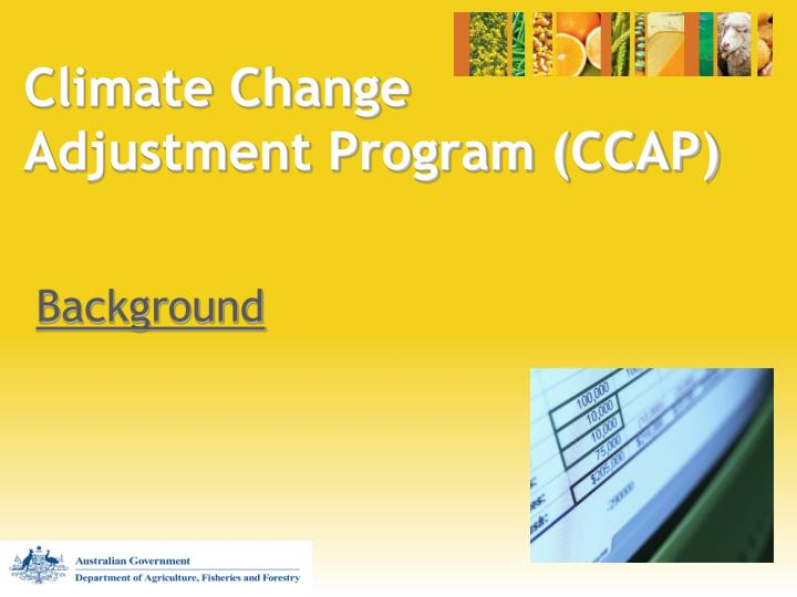 Climate change adjustment program ccap2