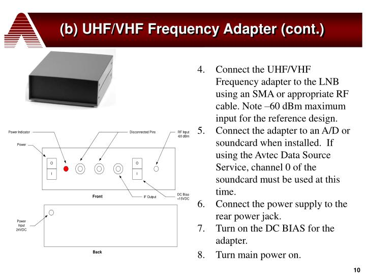 (b) UHF/VHF Frequency Adapter (cont.)
