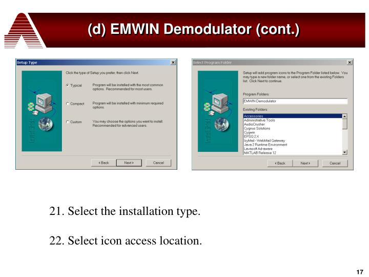 (d) EMWIN Demodulator (cont.)