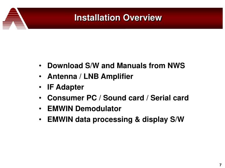 Installation Overview