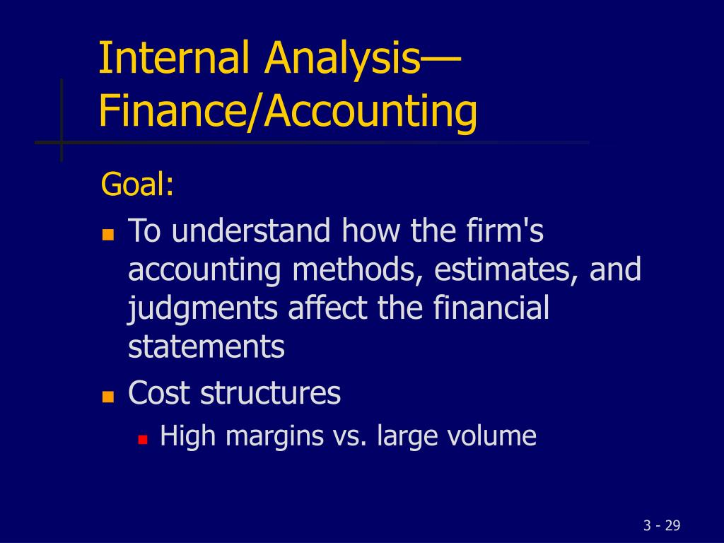 Internal Analysis—