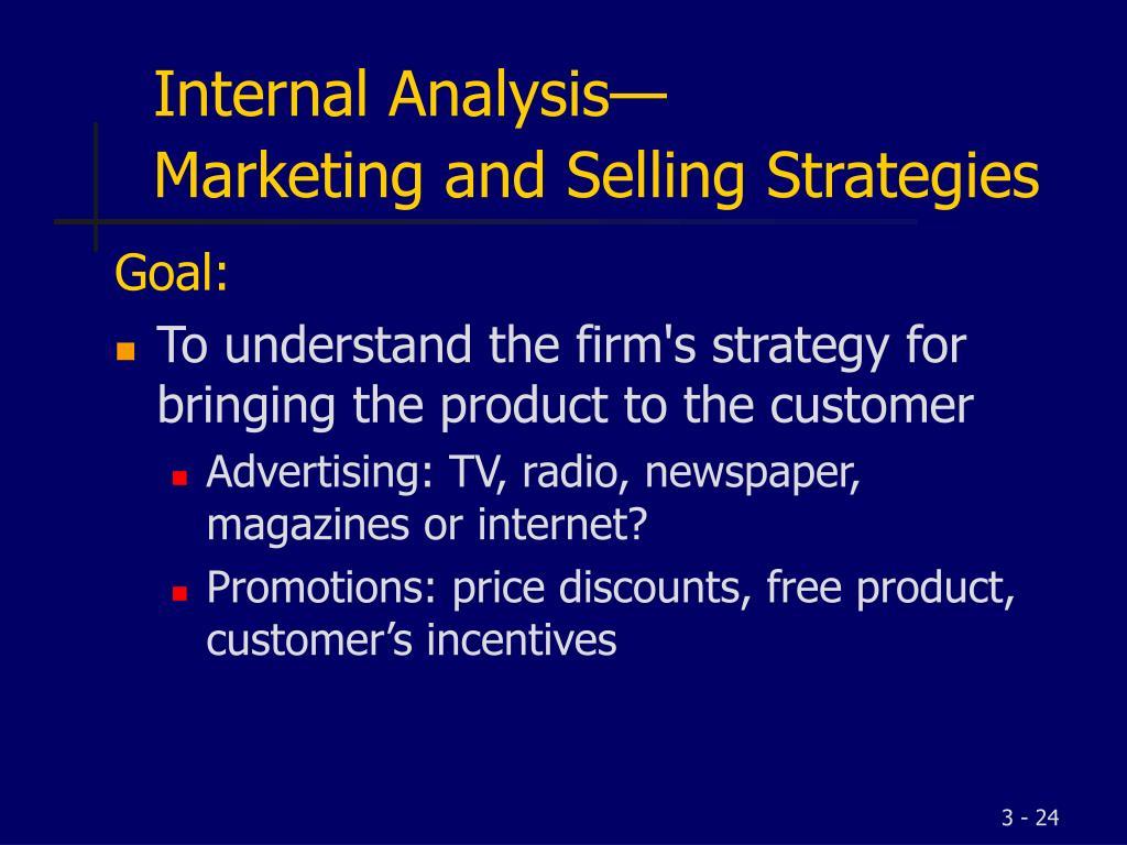 Internal Analysis—