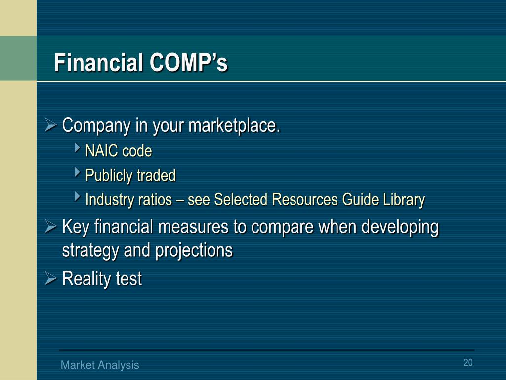 Financial COMP's