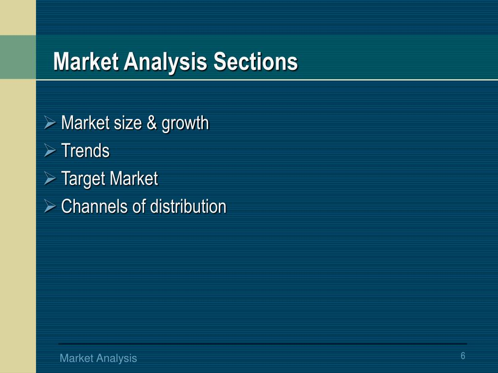 Market Analysis Sections