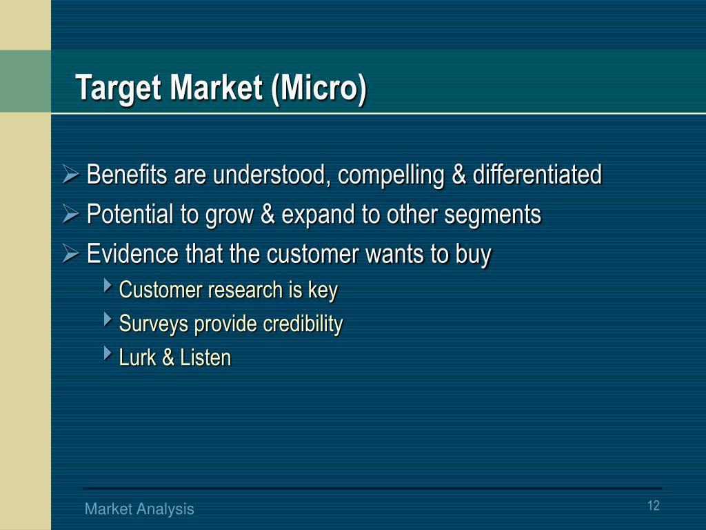 Target Market (Micro)
