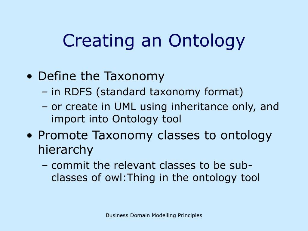 Creating an Ontology