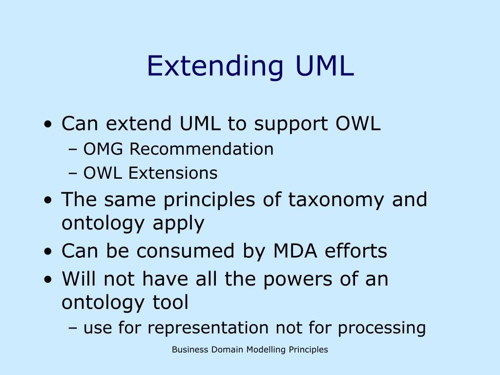 Extending UML