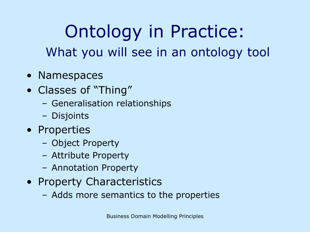 Ontology in Practice: