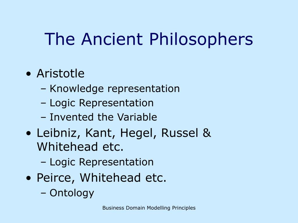 The Ancient Philosophers