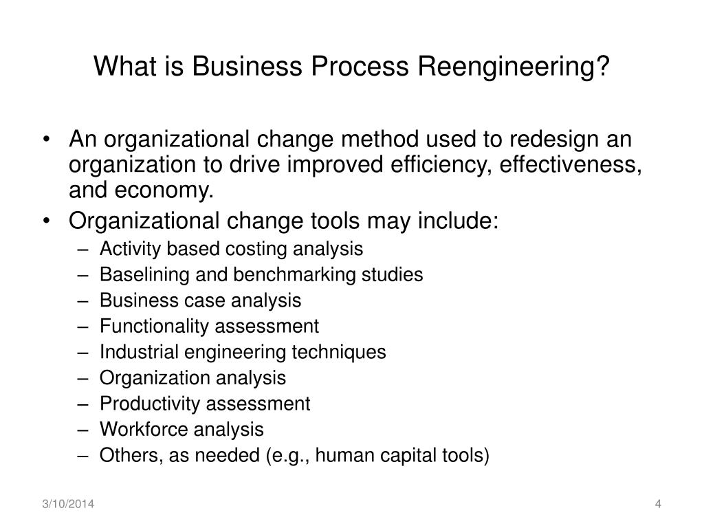 What is Business Process Reengineering?