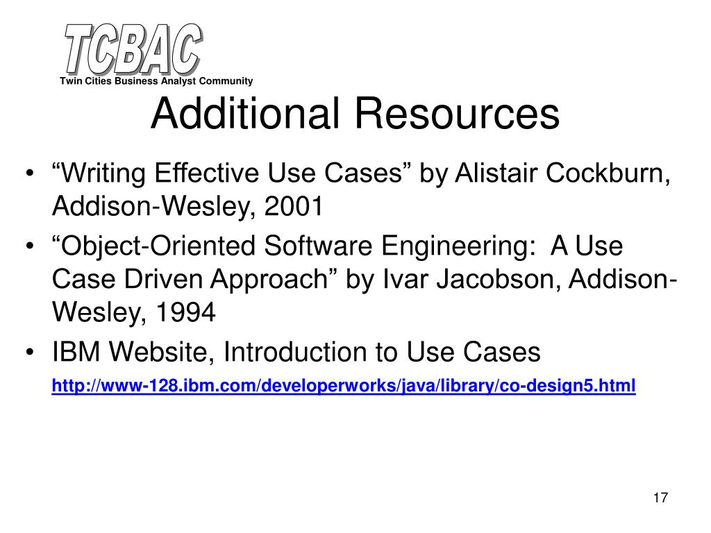 """Writing Effective Use Cases"" by Alistair Cockburn, Addison-Wesley, 2001"