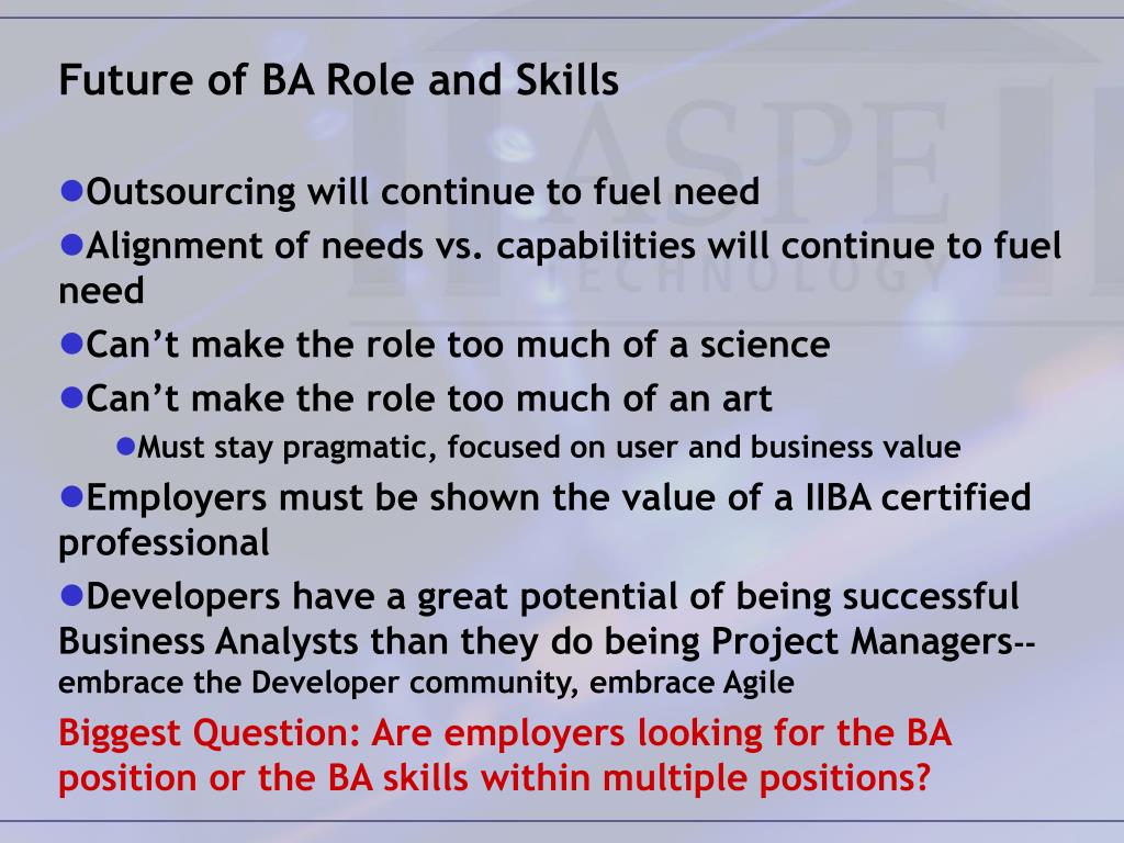 Future of BA Role and Skills