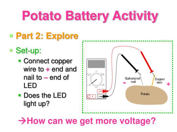 how to make a potato battery light
