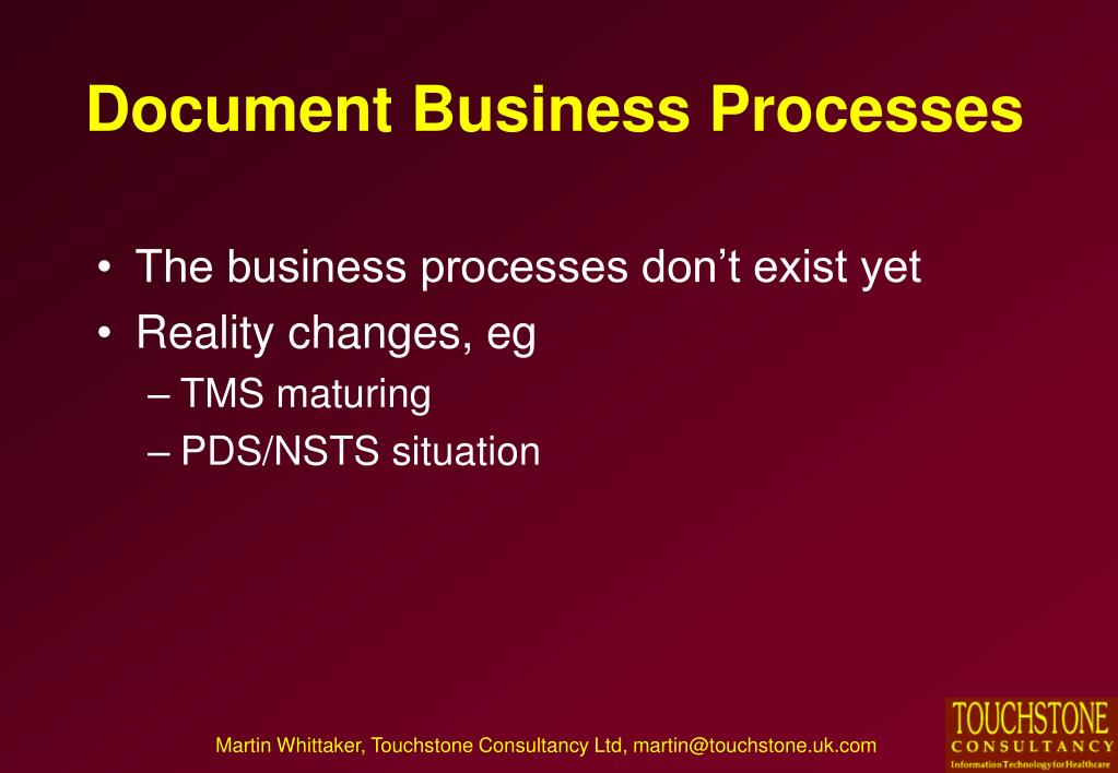 Document Business Processes