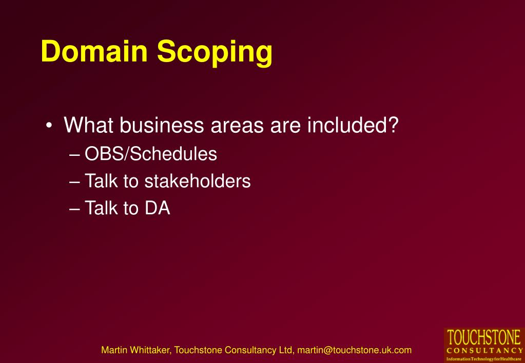 Domain Scoping