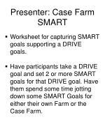 presenter case farm smart