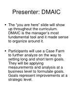 presenter dmaic