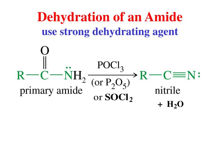 Dehydration of an Amide