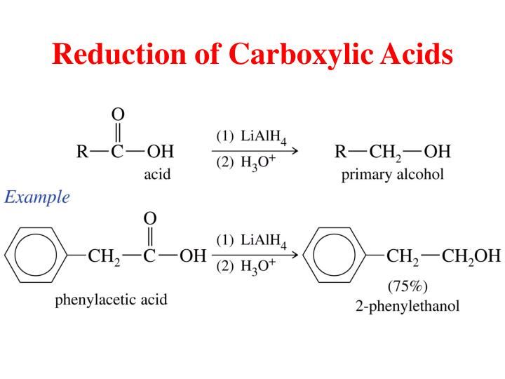 Reduction of Carboxylic Acids