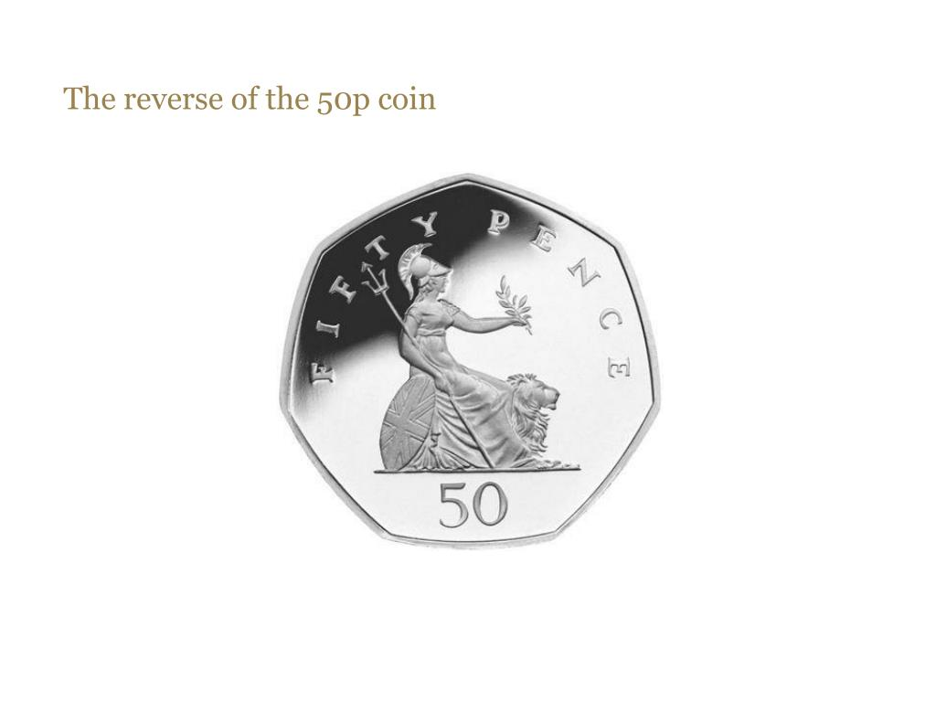 The reverse of the 50p coin