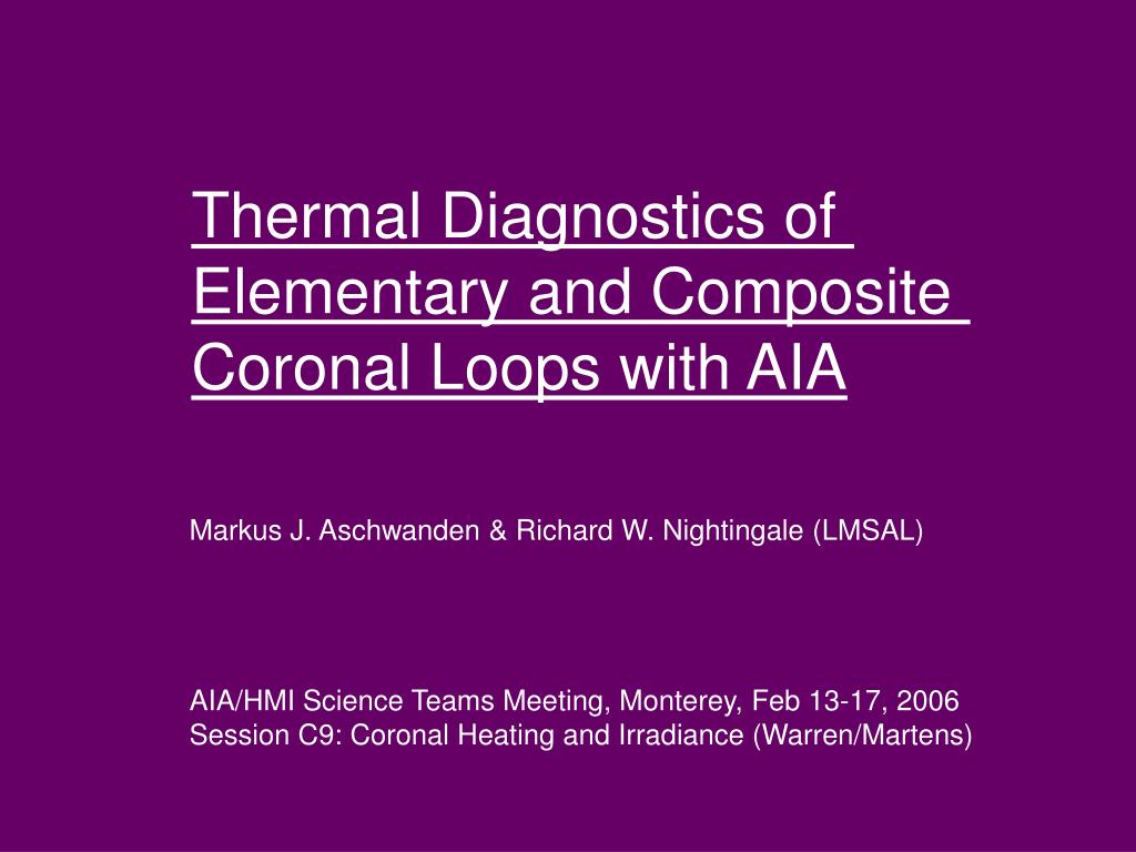 Thermal Diagnostics of