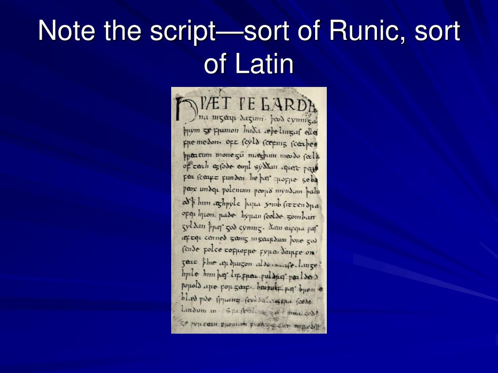 Note the script—sort of Runic, sort of Latin
