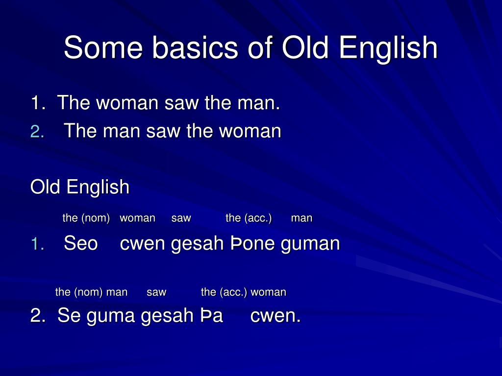 Some basics of Old English
