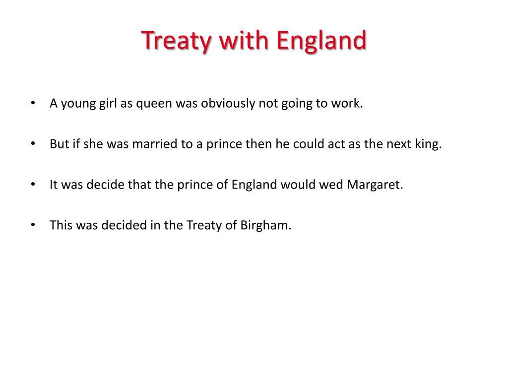 Treaty with England