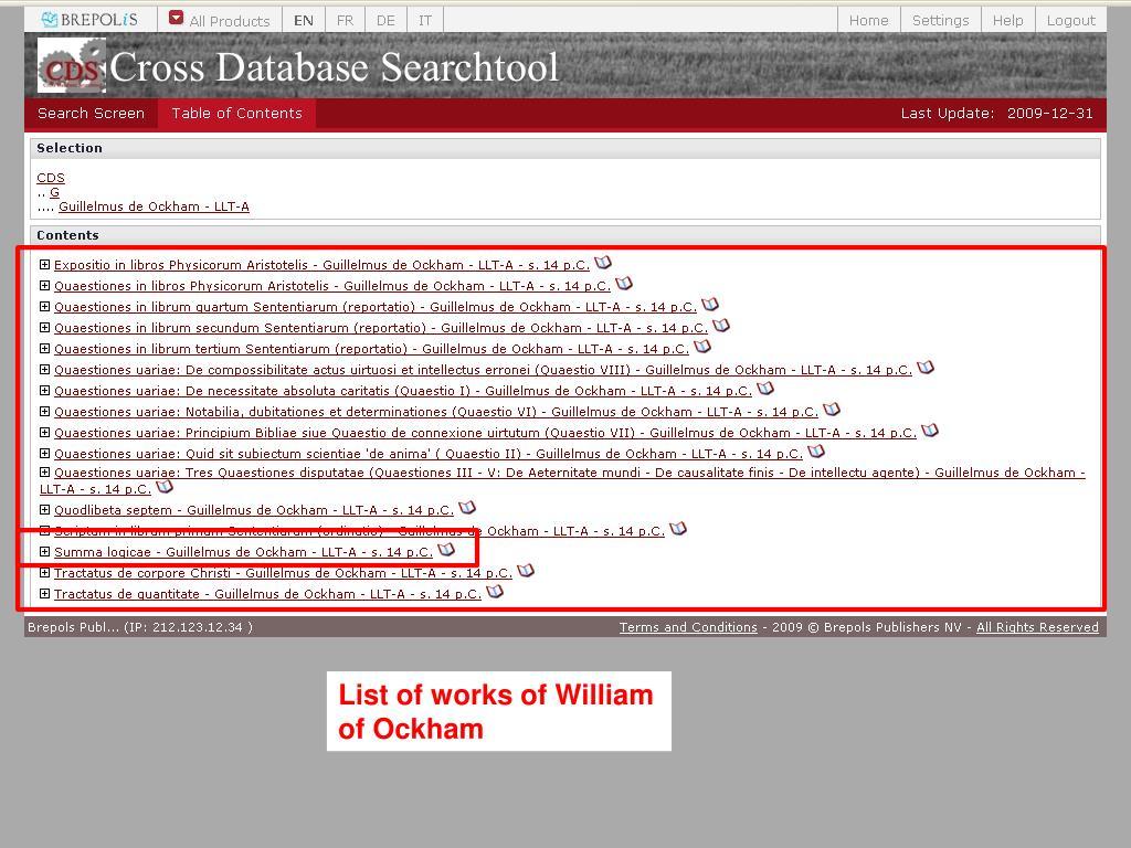 List of works of William