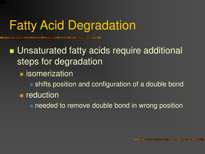 Fatty Acid Degradation