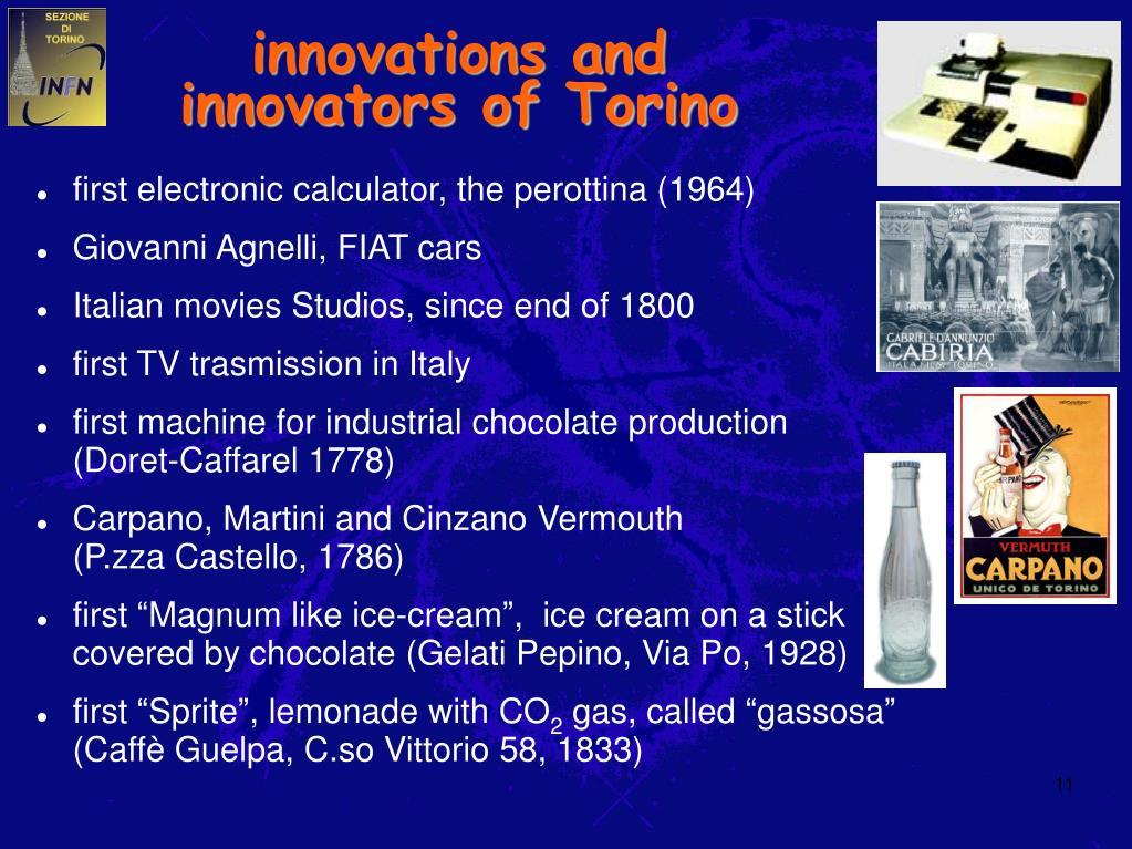 innovations and innovators of Torino