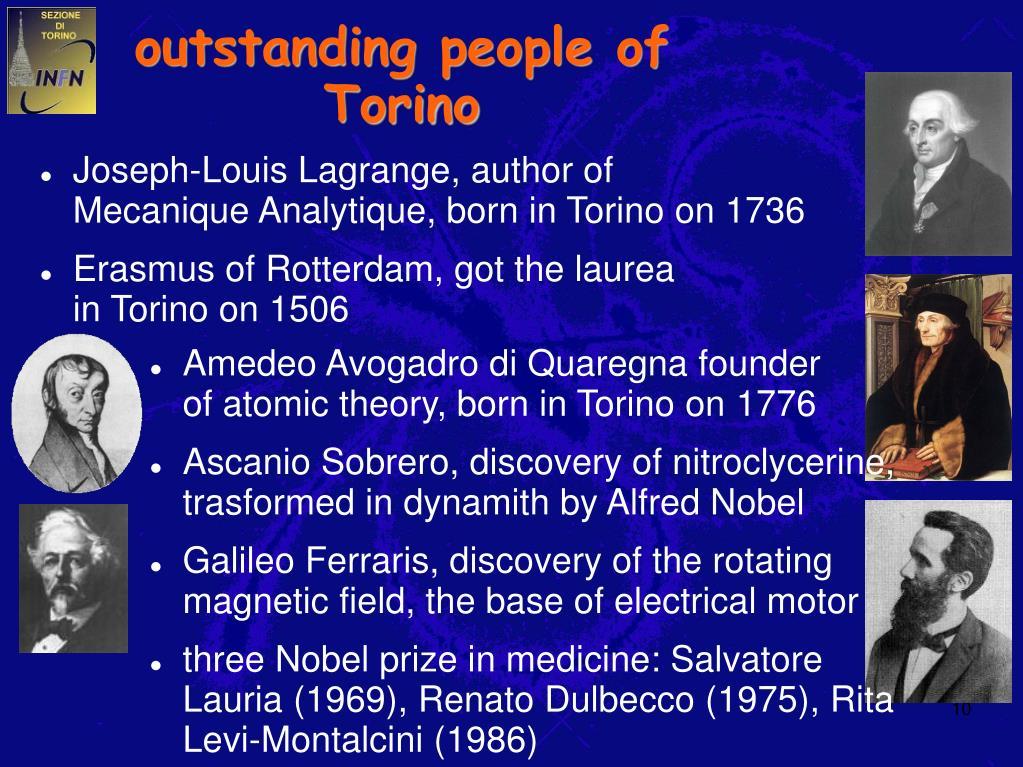 outstanding people of Torino