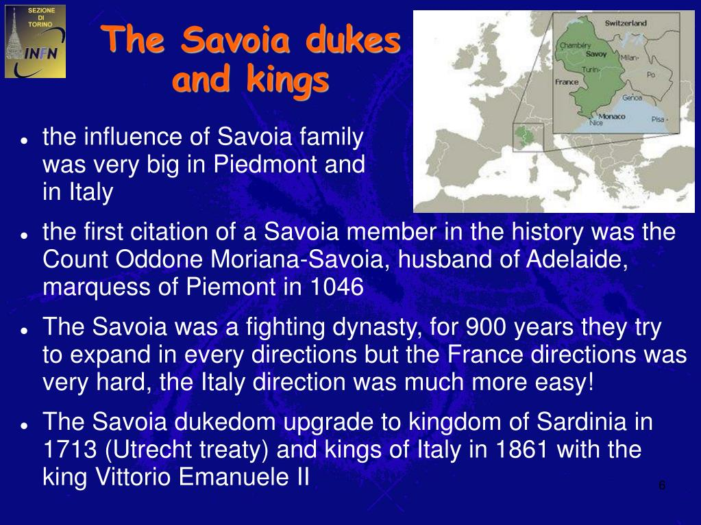The Savoia dukes and kings