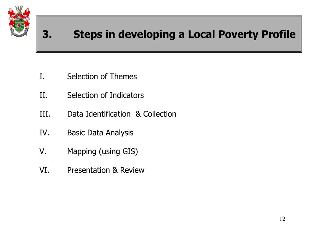 3.	Steps in developing a Local Poverty Profile